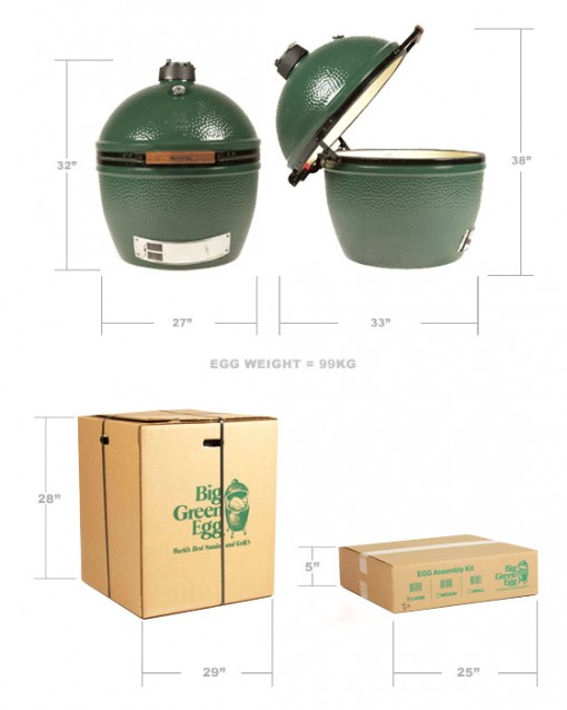 Xlarge Big Green Egg available at: Fishbecks Patio Furniture - Pasadena Store | www.fishbecks.com
