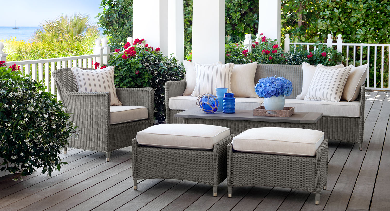 Fishbecks patio furniture store pasadena for Outside balcony furniture