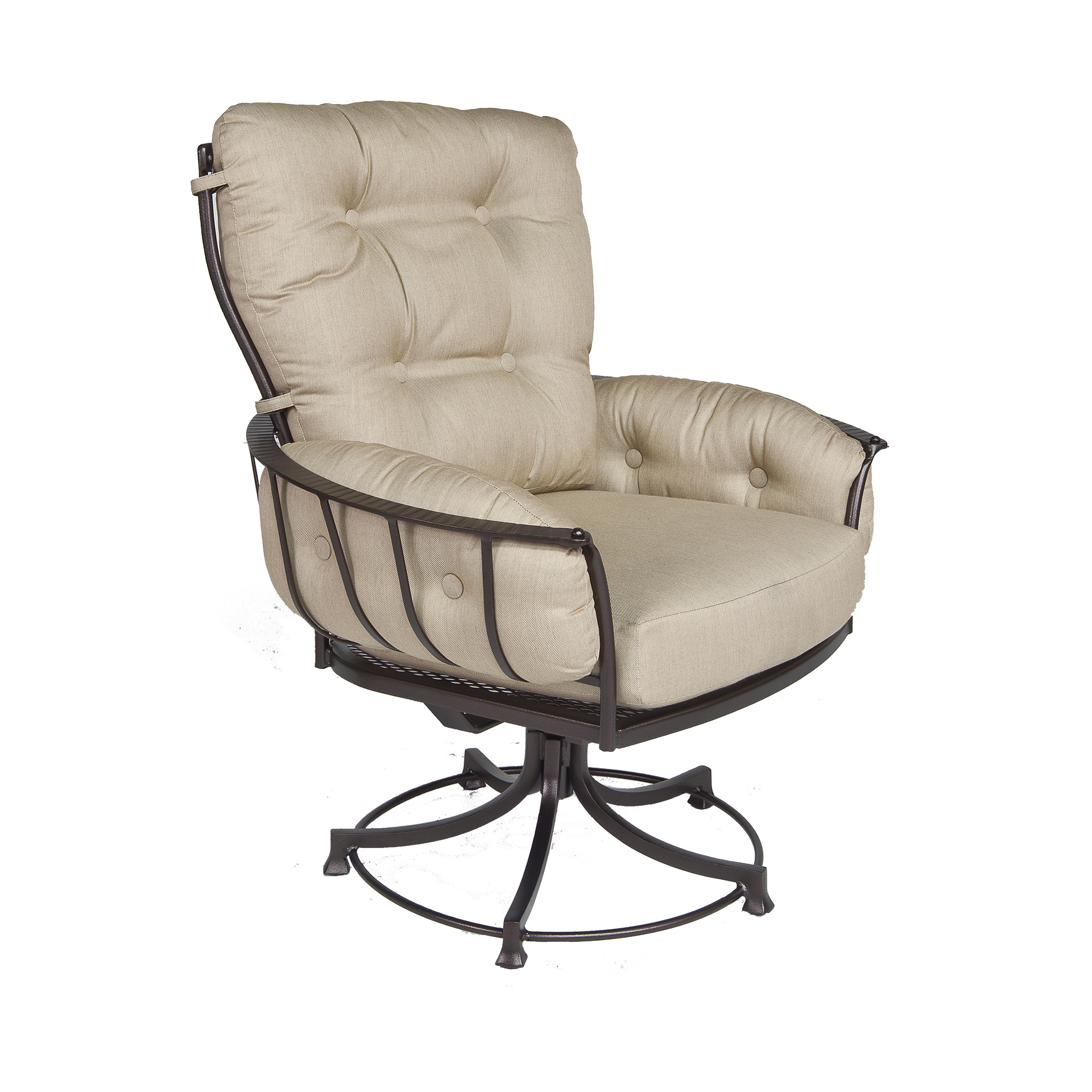 Club Swivel Rocker Dining Arm Chair