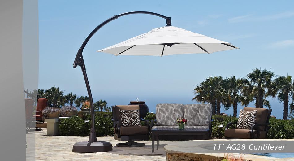 11 Ft AG28 Cantilever. 11 Ft AG28 Cantilever Patio Umbrella