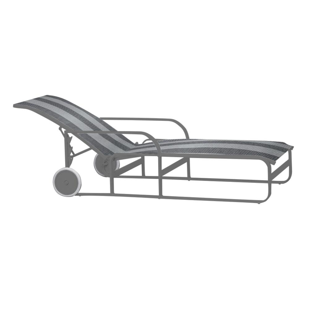 adjustable chaise with wheels- sling