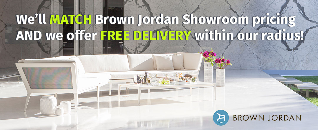 Brown Jordan Promo FIshbecks Pasadena Outdoor Furniture Store